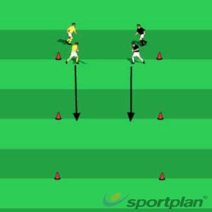 Defending footwork warm upFootball Drills Coaching