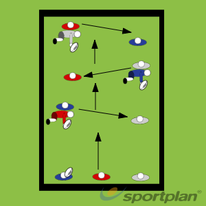 Roll Ball in 3'sTag RugbyRugby Drills Coaching
