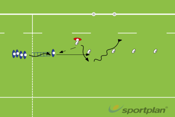 Ladder agility with ballRugby Drills Coaching