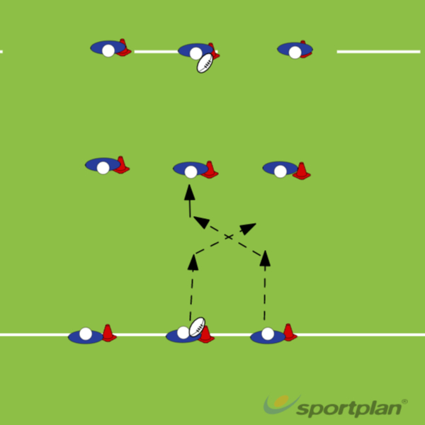 9 conesRugby Drills Coaching
