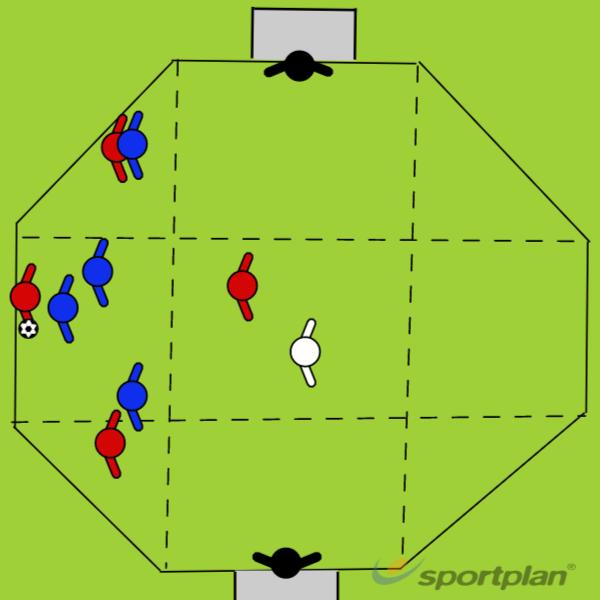 Diamond Zoned Directional PossessionPossessionFootball Drills Coaching