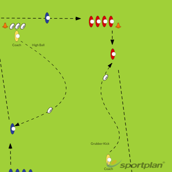 High Ball & Grubber CatchCatchingRugby Drills Coaching
