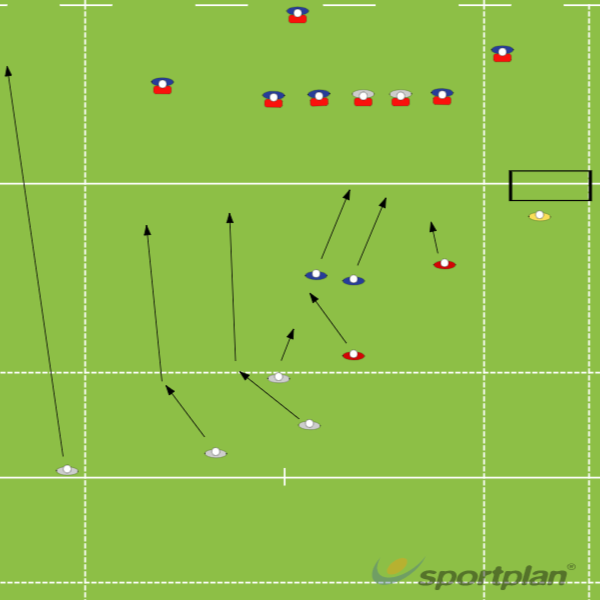4s off 15Backs MovesRugby Drills Coaching