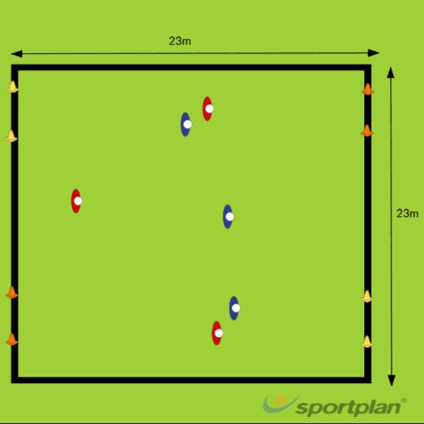 3v3 (Diagonal Goals)Game relatedHockey Drills Coaching