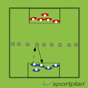 Capture the balls (JUNIOR)Football Drills Coaching
