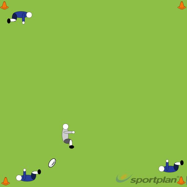3 v 1 Run & PassRugby Drills Coaching