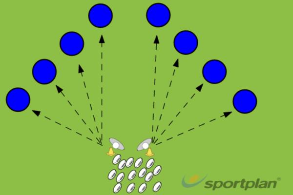 Precision Scrum Half PassPassingRugby Drills Coaching