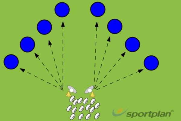 Precision Fly Half PassPassingRugby Drills Coaching