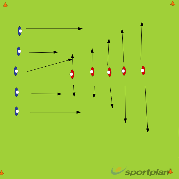 Pase 5 v 1 x 5PassingRugby Drills Coaching