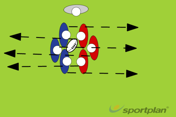 3 v 3 ScrumScrumRugby Drills Coaching