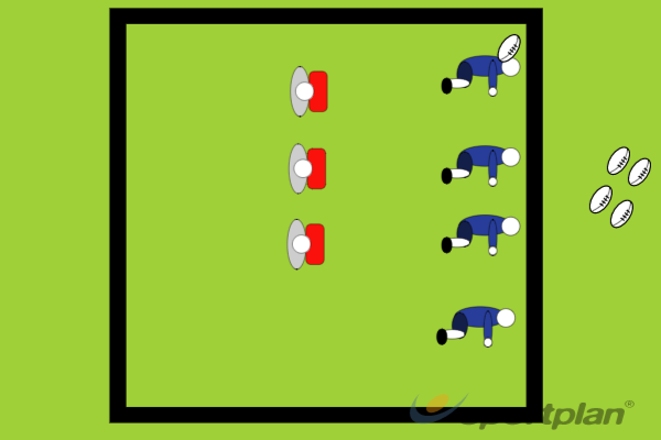 Hit and Spin RelayContact SkillsRugby Drills Coaching