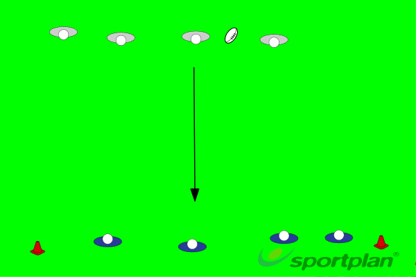 4 VS 4Rugby Drills Coaching