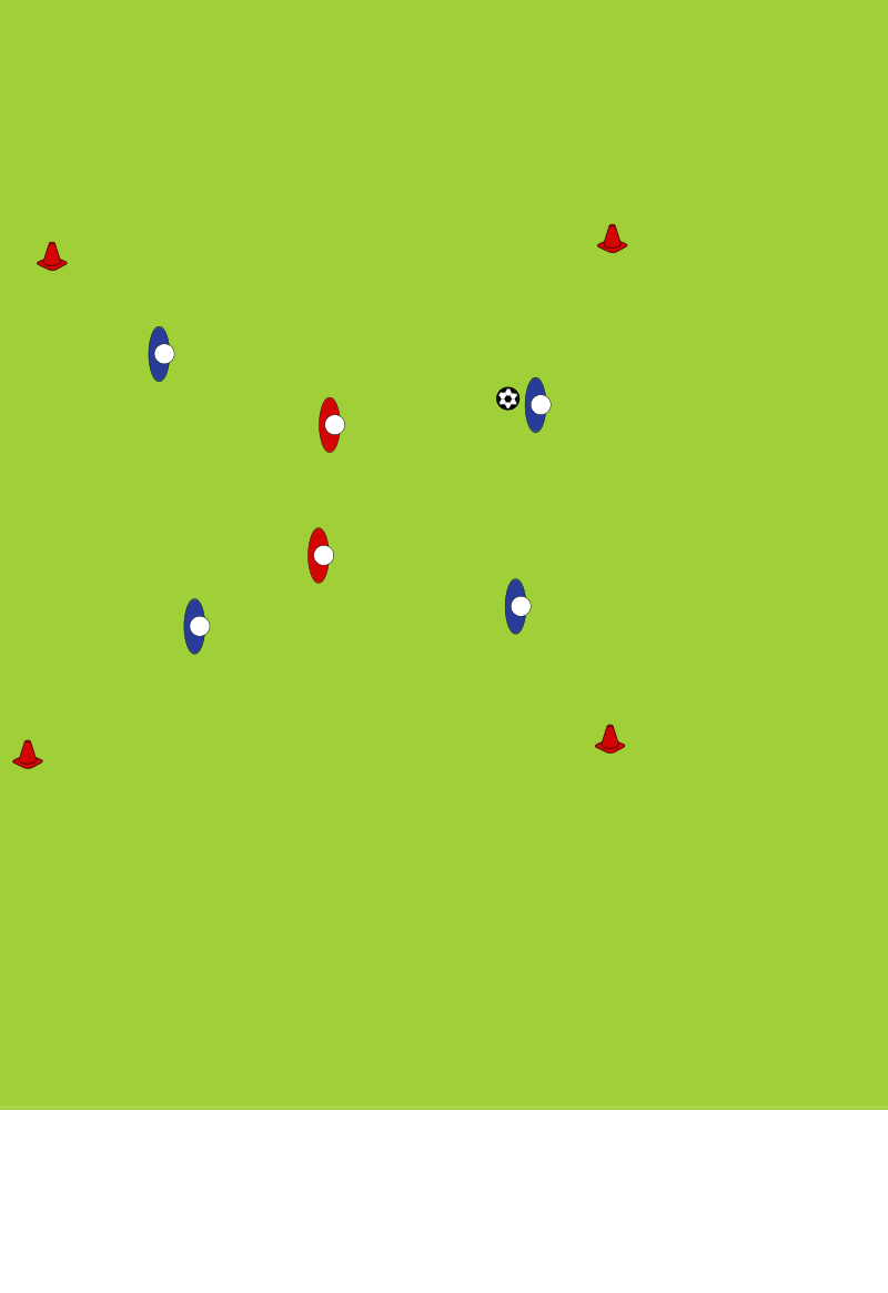 4 v 2AgilityFootball Drills Coaching