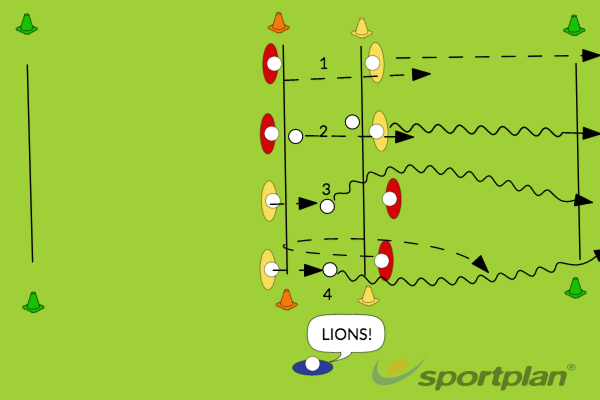 Lions and LeopardsWarm-up GamesHockey Drills Coaching