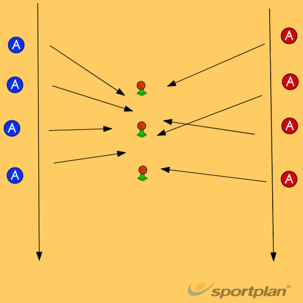 hit the ball off the conePassingBasketball Drills Coaching