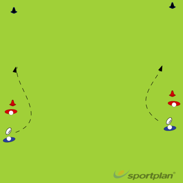 Stepping drillRugby Drills Coaching