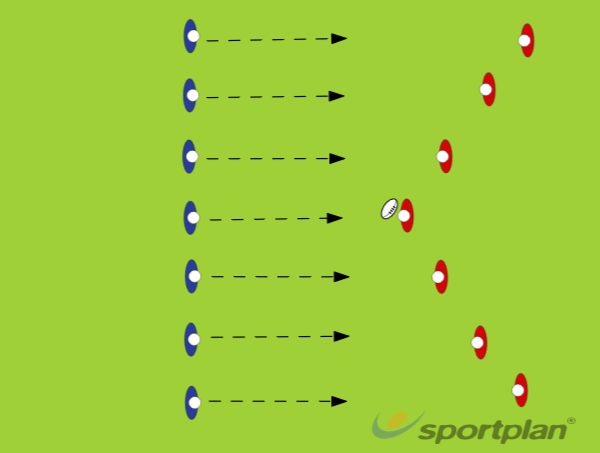 Tag Rugby U8 (starting position)Tag RugbyRugby Drills Coaching