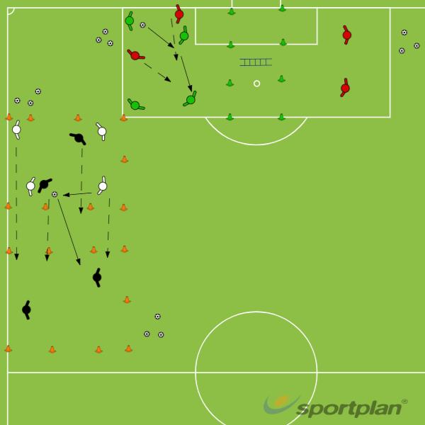 TUSSENVORM 1: Pressing game met kantelingFootball Drills Coaching