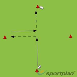Diamond Passing extension 1Rugby Drills Coaching