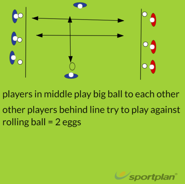 Rolling ball challenge Y5-8Hockey Drills Coaching
