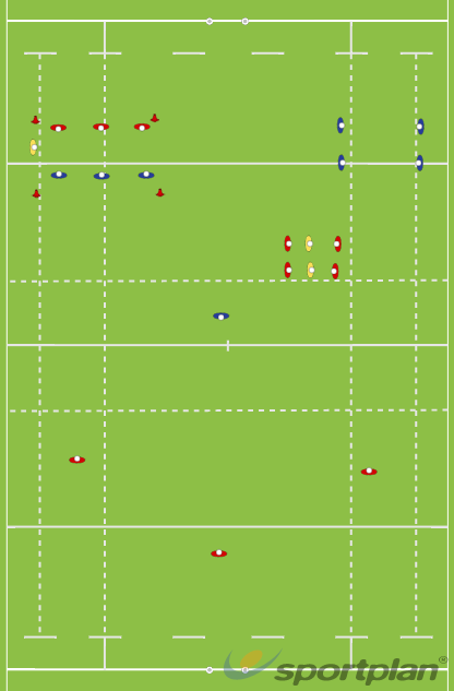 Split field break out sessionAgility & Running SkillsRugby Drills Coaching