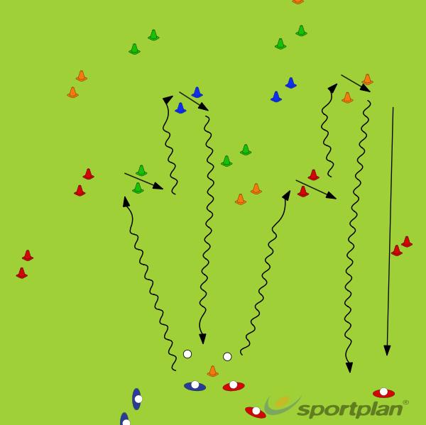 Reverse stick dribbling U8,sChanging directionHockey Drills Coaching