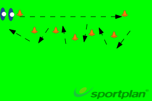 Running/Evasion Drill - SteppingAgility & Running SkillsRugby Drills Coaching