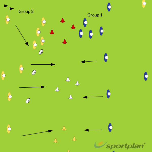 Attack-Defence alignment reactionMatch RelatedRugby Drills Coaching