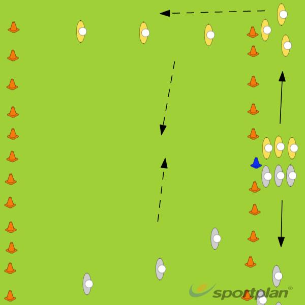 2v2 3v3 4v4Tag RugbyRugby Drills Coaching