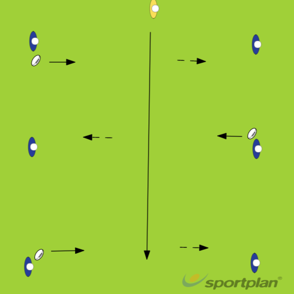Touch - PassingRugby Drills Coaching