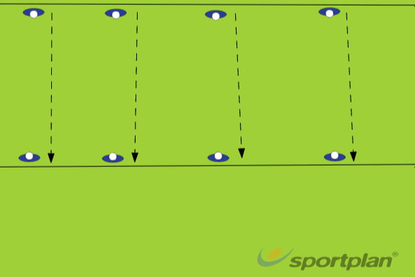 Isolated - side steppingRugby Drills Coaching
