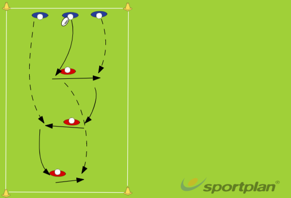 Offloading Behind the DefenderRugby Drills Coaching