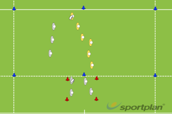 Conditioned Touch GameRugby Drills Coaching