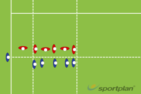 5 Man defensive LineoutRugby Drills Coaching