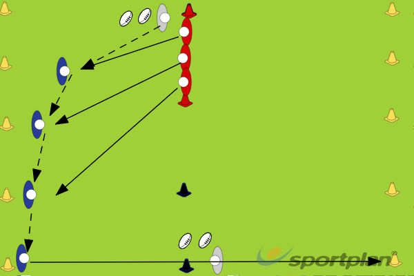4 vs 3 attacking drill (sevens drill)SevensRugby Drills Coaching
