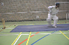 : Example of advancing down wicket - Batting Mechanics
