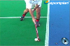 Receiving on the reverse while moving Hockey