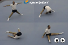 Straddle Forward Roll to Straddle Sit Gymnastics