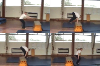 : Straight-Leg Squat Vault in Pike Shape over low box tops/benches - Key 3 Vault