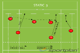 STATIC 3Backs MovesRugby Drills Coaching