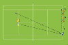 : Backhand cross court with quick cones - Movement